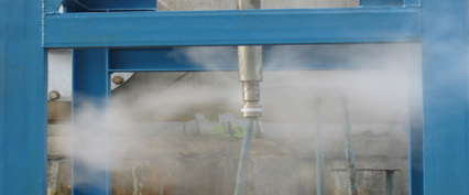 Spray testing facility - exhibiting the most effective spray pattern, Photo:©SchuF