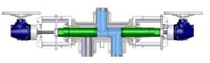 VDU Diverter Valve drawing (Y type design) - Eliminates dead space, Figure:©SchuF