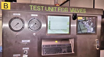 Test rig control panel